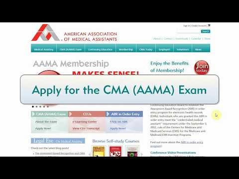 Apply for the CMA (AAMA) Certfication Exam - YouTube