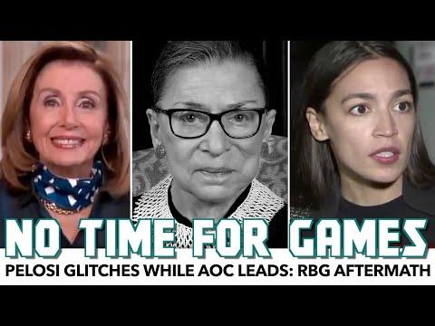 Pelosi Bizarrely Glitches While AOC Leads: RBG Aftermath