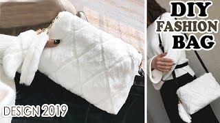 DIY WINTER PURSE BAG TUTORIAL // Cute Faux Fur Bag With Pockets Inside