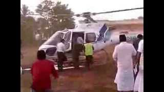 MA YUSUF ALI LANDING HELICOPTER