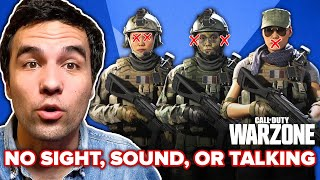 We Played Call Of Duty: Warzone Without Seeing, Hearing, or Speaking