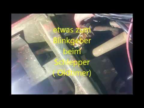 Blinkgeberfilm  beim Oldtimerschlepper
