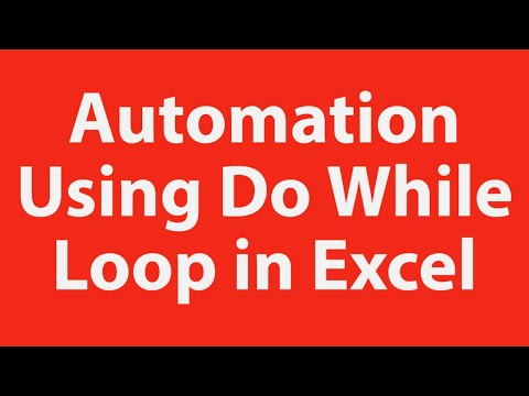 Automation using do while loop Excel