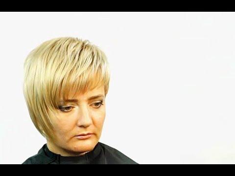 Женская асимметричная стрижка от Ирины Волощенко