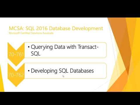 SQL Server certifications - April 2020 update - YouTube