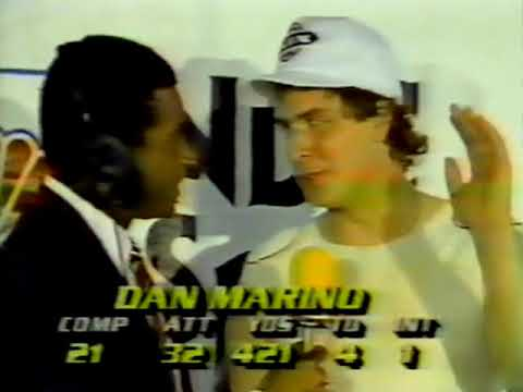 1984 AFC Champ Miami Dolphins Locker Room Interviews - Don Shula, Dan Marino