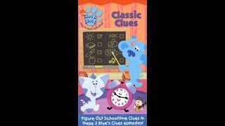 Closing To Blue's Clues Classic Clues 2004 VHS