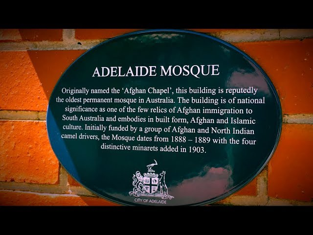 Adelaide Mosque built by Afghans
