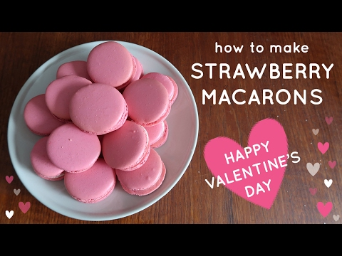 How To Make Pink STRAWBERRY French Macarons ♥ VALENTINE'S DAY ♥