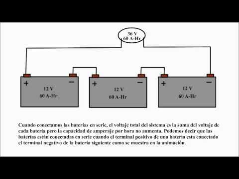 Baterias en serie.  Baterias en paralelo. Conexion de baterias en serie y paralelo.