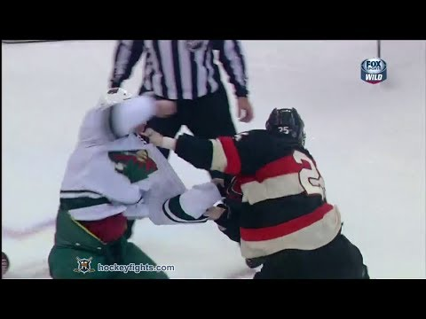 Clayton Stoner vs Chris Neil
