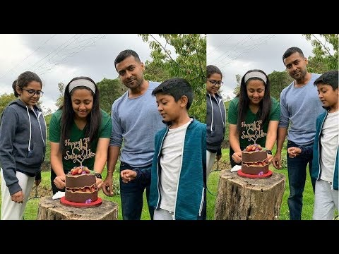 Surya & Jyothika 13'th Wedding Anniversary Celebration   Daughter Diya, Son Dev