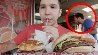 Caught On Camera: Almost Stabbed At Jack In The Box (Not For Kids) - Video Youtube