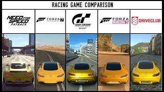 NFS PAYBACK vs GT SPORT vs FORZA 7 vs HORIZON 3 vs DRIVECLUB - Mercedes AMG GTS