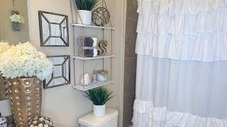 DECORATE WITH ME ON A BUDGET | BATHROOM DECORATING IDEAS | SMALL SPACE| APARTMENT BATHROOM MAKEOVER