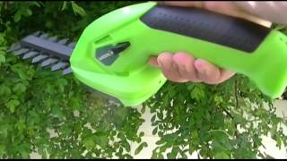 Gardenline (Aldi) 7.2v Li-Ion Cordless Hedge Trimmer/Shrubber