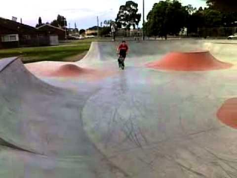 starting bmx at skate park :)