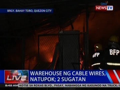 [GMA]  NTVL: Warehouse ng cable wires sa QC, natupok; 2 sugatan