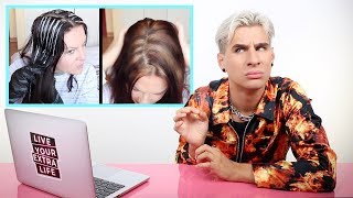 HAIRDRESSER REACTS TO AT HOME HIGHLIGHTS GONE WRONG