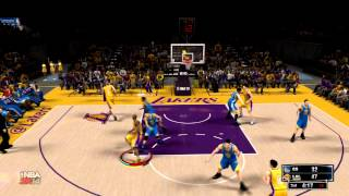"NBA 2K14 - ""Trash Talker Gets Owned!"" Warriors vs Lakers - Online Quick Match Gameplay NBA 2K14"