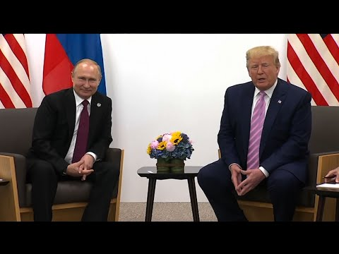 """Russian President Vladimir Putin and US President Donald Trump were heard on camera discussing """"fake news"""" before their talks at the G-20 summit in Osaka on Friday. (June 28)"""