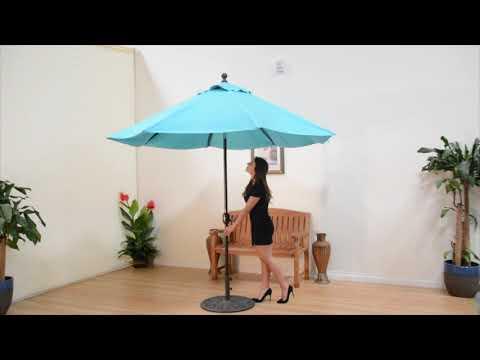 Galtech Deluxe Auto Tilt Patio Market Umbrellas