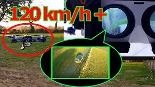 120 km/h+  FPV Racer mit Videobrille!