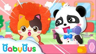 Baby Kitten's Hair Salon Pretend Play | Baby Kitten Family | Kids Safety Tips | Kids Song | BabyBus