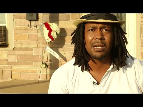 An Ohio man says he watched his father die in his arms after being hit by gunfire in Sunday's mass shooting in Dayton, Ohio. (Aug 7)