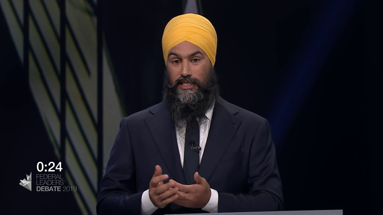 Jagmeet Singh answers a question about truth and reconciliation