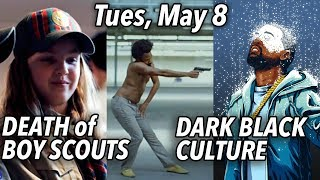 """May 8: Death of Boy Scouts   Childish Gambino Ugly Rap Video   Blacks: Kanye's """"White"""" Free Thought"""