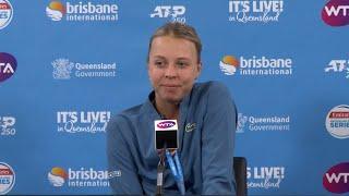 Anett Kontaveit Press Conference (2R)   Brisbane International 2019