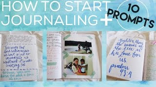 HOW TO START JOURNALING + 10 Prompts   Christian Inspiration