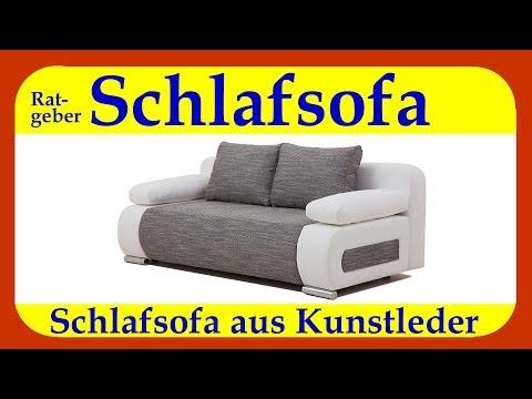 Schlafsofa Ulm FK Kunstleder Schlafsofa | ein kleines 2-Sitzer Schlafsofa mit 140 cm Breite