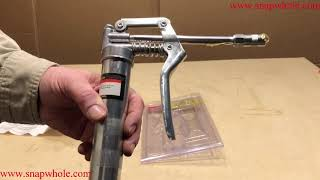 Harbor Freight Pittsburgh Mini Grease Gun Setup and How to Use and Review