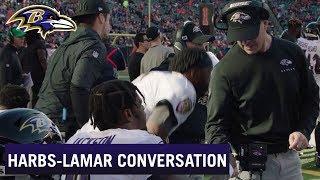 John Harbaugh, Lamar Jackson Share Incredible Sideline Conversation