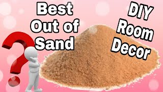 DIY Best Out Of Waste/ Room Decor Idea/ Sand craft/ how to make a sand bowl: - Video Youtube