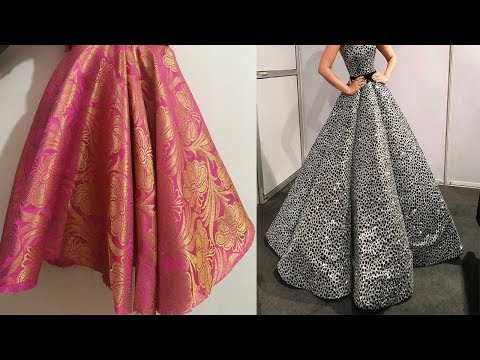 Double Layer Designer skirt/frock cutting and stitching