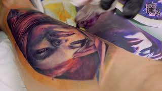 Roberto Lauro Rosa portrait tattoo