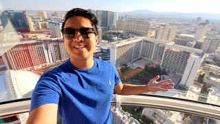 RIDING THE WORLD'S TALLEST FERRIS WHEEL (High Roller Las Vegas)
