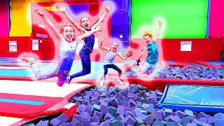 SIBLING TRAMPOLINE PARK COMPETITION w/The Norris Nuts