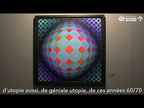 Exposition Vasarely au Centre d'Art départemental 21 bis Mirabeau à Aix-en-Provence