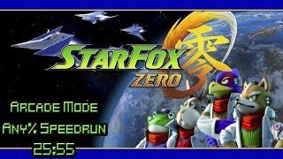 Star Fox Zero Arcade Mode    Any% Speedrun (In Game Time   25:55)