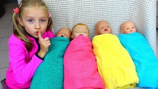 Are you sleeping brother John and more kids video By Polina and baby dolls