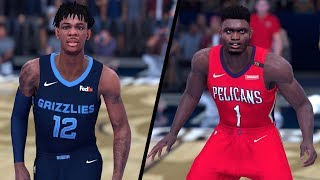 NBA 2K19 - Memphis Grizzles vs. New Orleans Pelicans - Full Gameplay (Updated Rosters)