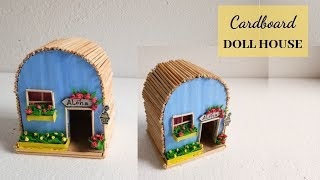 DIY Dollhouse Made Out Of Cardboard / Easy Handmade Home Decor Craft By Aloha Crafts