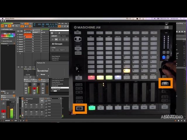 Using Maschine JAM with Bitwig Studio