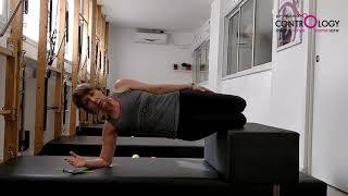 חיזוק שרירי הבטן ורצפת האגן בפלאנק צידי - רמת מתחילים - ברכיים כפופות