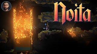 Youtube thumbnail for Noita Review | Sandbox of death