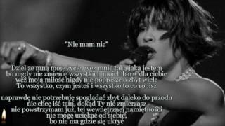 "Whitney Houston   I Have Nothing ( ""Nie Mam Nic"" ) TEKST"